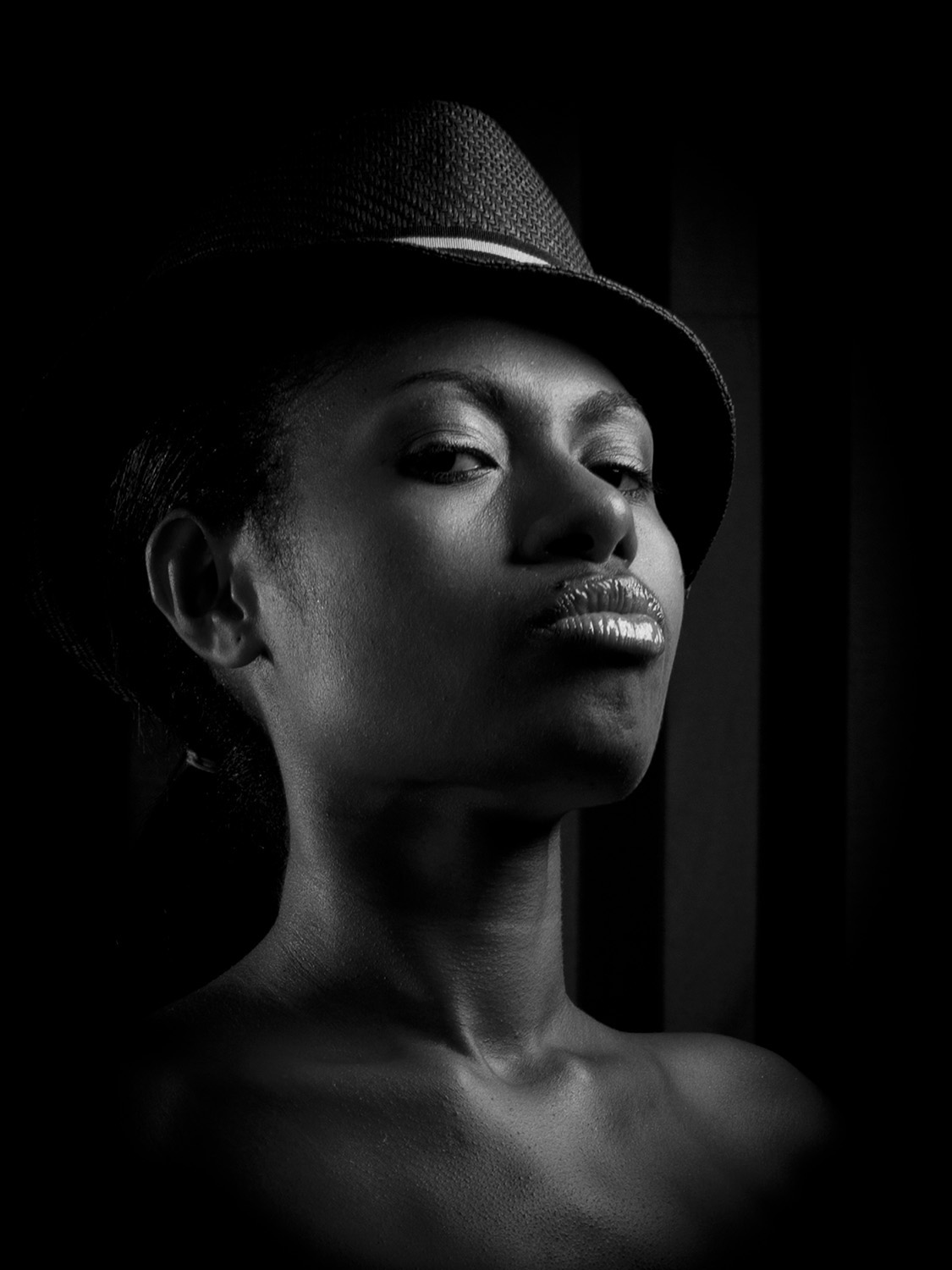 image of AARONTAIT COPYRIGHTED 2014 111 ADVERTISING PNG GIRL BLACK AND WHITE PORTRAIT FASHION BEAUTY