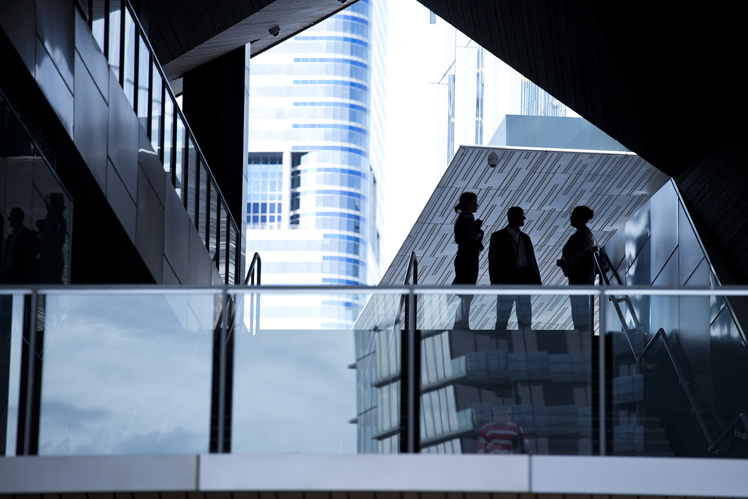 image of AARONTAIT COPYRIGHTED 2014 177 CORPORATE BUSINESS EXECUTIVES POWER COMMERCE DOCUMENTARY REPORTAGE URBAN CBD SILHOUETTE